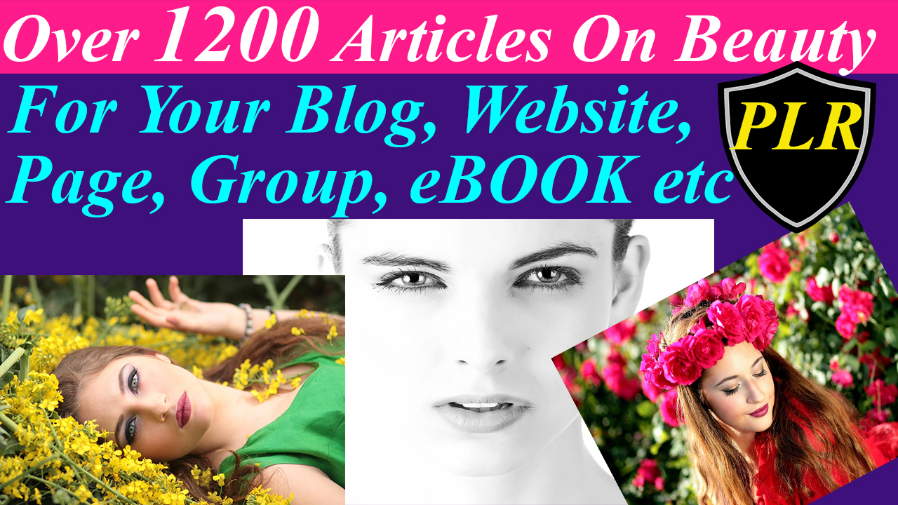 Get 3000 Plus PLR Articles On Beauty Skin Care Hair and Acne