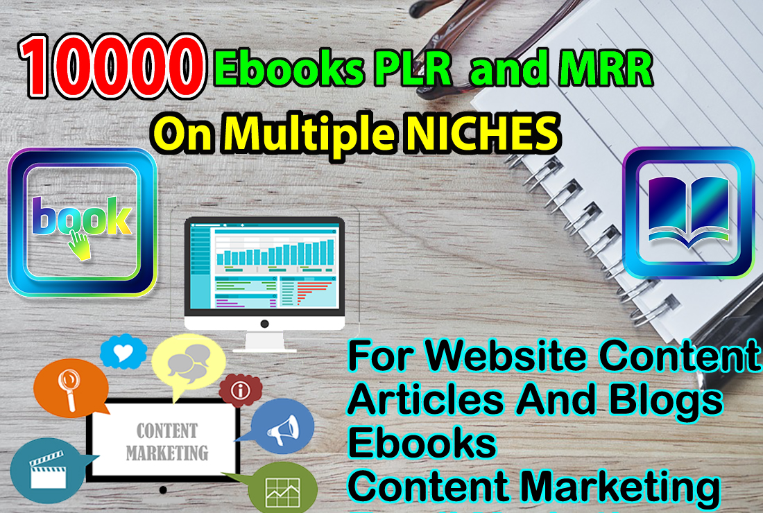 Get 10000 EBooks PLR & MRR on All The Niches