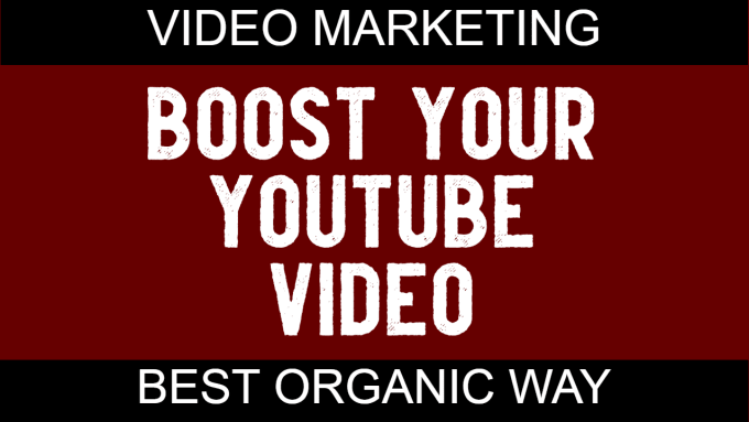 I will do organic youtube video promotion and seo backlinks for video ranking