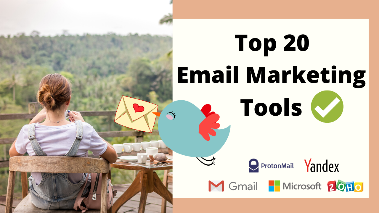 Top 20 Secret Email Marketing Tools
