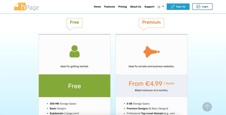 hPage.com - Create a Professional Website