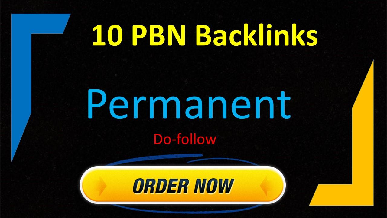 I will Create 10 UNIQUE HOMEPAGE PBN High Da/pa Tf/cf Dr/Ur backlinks
