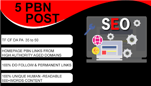 I will 5 pbn backlinks high Da Tf from my own real authority pbns