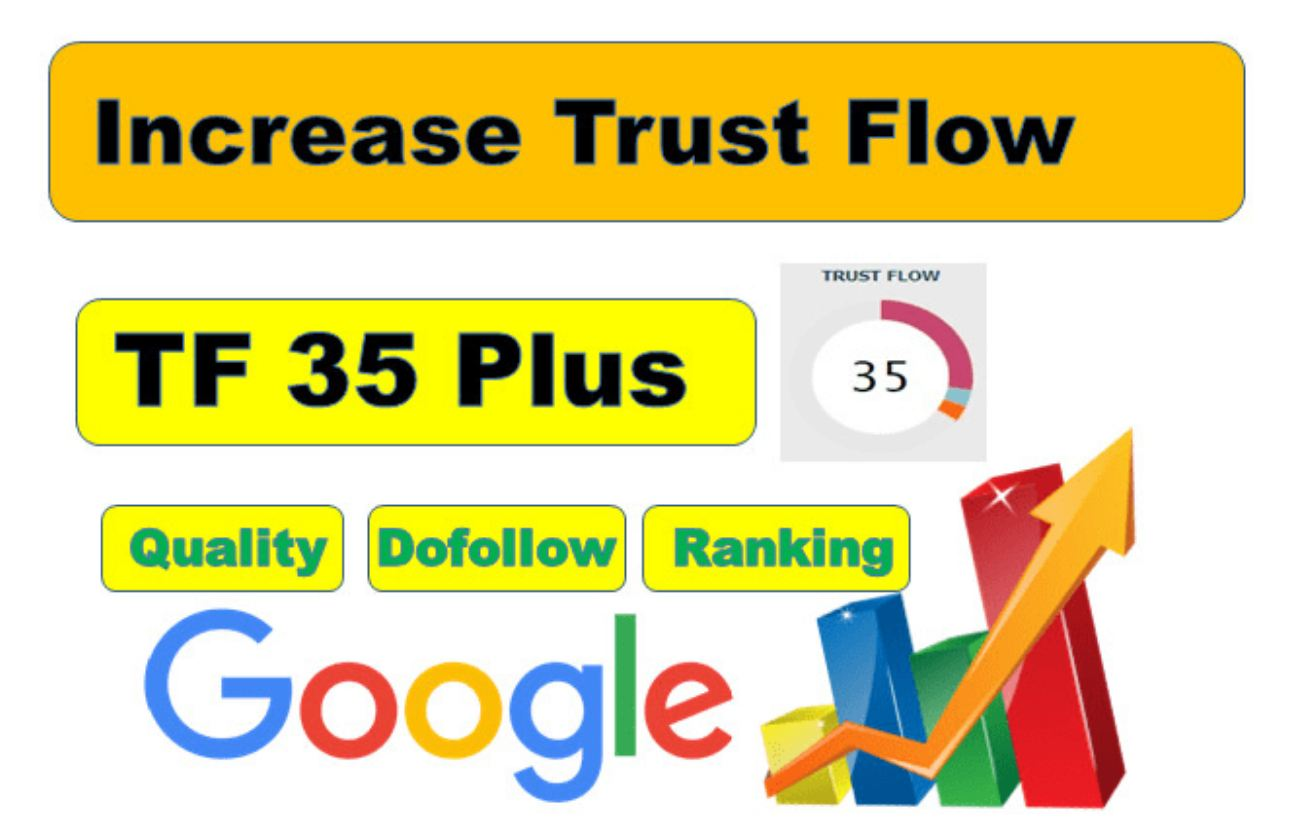 I will increase trust flow 20 plus with dofollow seo backlinks