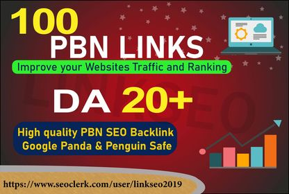 I will Create 100 quality dofollow pbn that will boost your site ranking