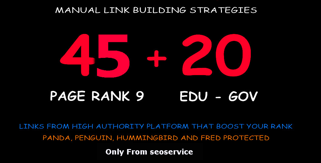 45 Pr9 + 20 Edu - Gov High Pr SEO Authority Backlinks