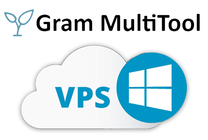 High-End Windows VPS with GMT2 GramMulti Tool 2 installed and licensed