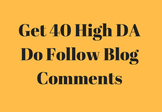 i provide 40 high authority dofollow trust flow blog comments backlinks