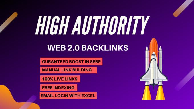 I will super authority web 2.0 dofollow backlinks