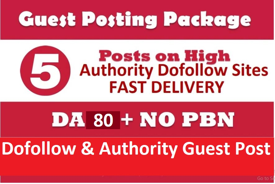 Write and Publish Guest Post on 5 High Quality Authority Sites DA90+