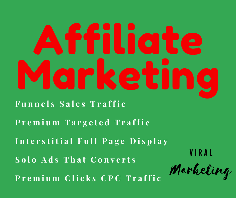 I will do Affiliate Marketing by Traffic