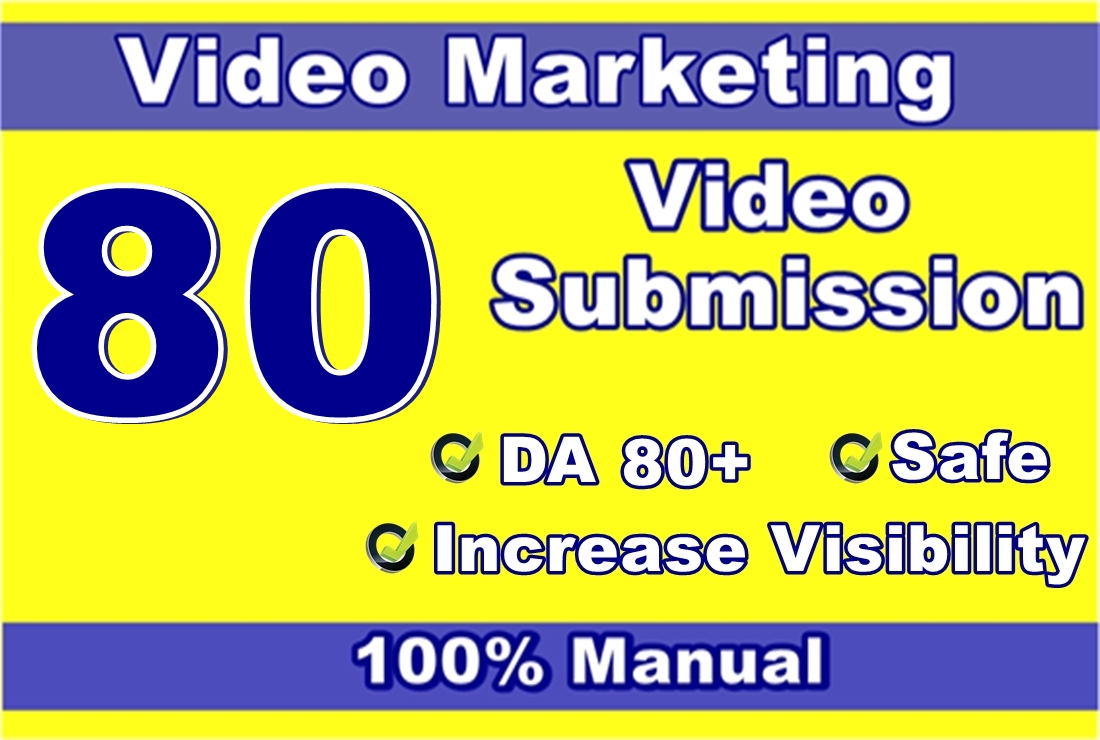 Manual 80 Video Submission On Top Video Sharing Or Uploading Sites