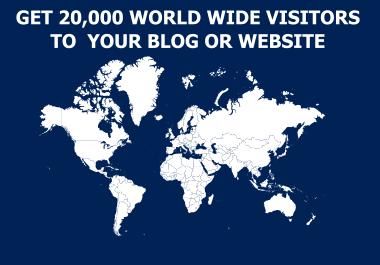 20K Visitors To Your Website or Blog