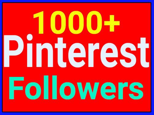 1,000 Real Genuine Pinterest board Followers Non Drop Guaranteed