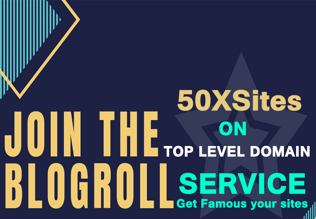 Blogroll service on 50xsites top level domain