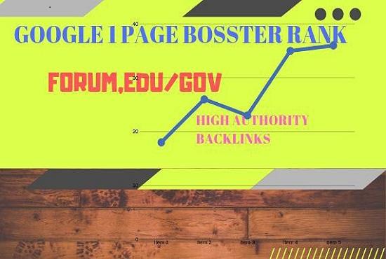 Google 1 Page Forum, Edu/Gov High Authority Backlinks