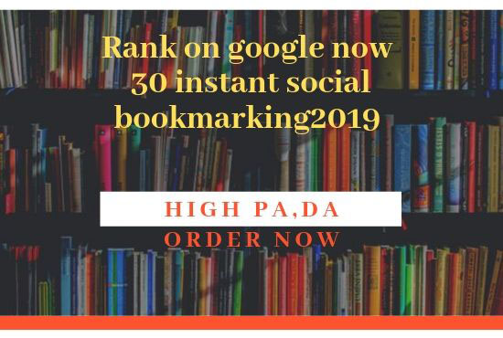 Top 30 Social Bookmarking Power Booster Do-Follow Backlink For Website Instant Rank Hurry Up Order N