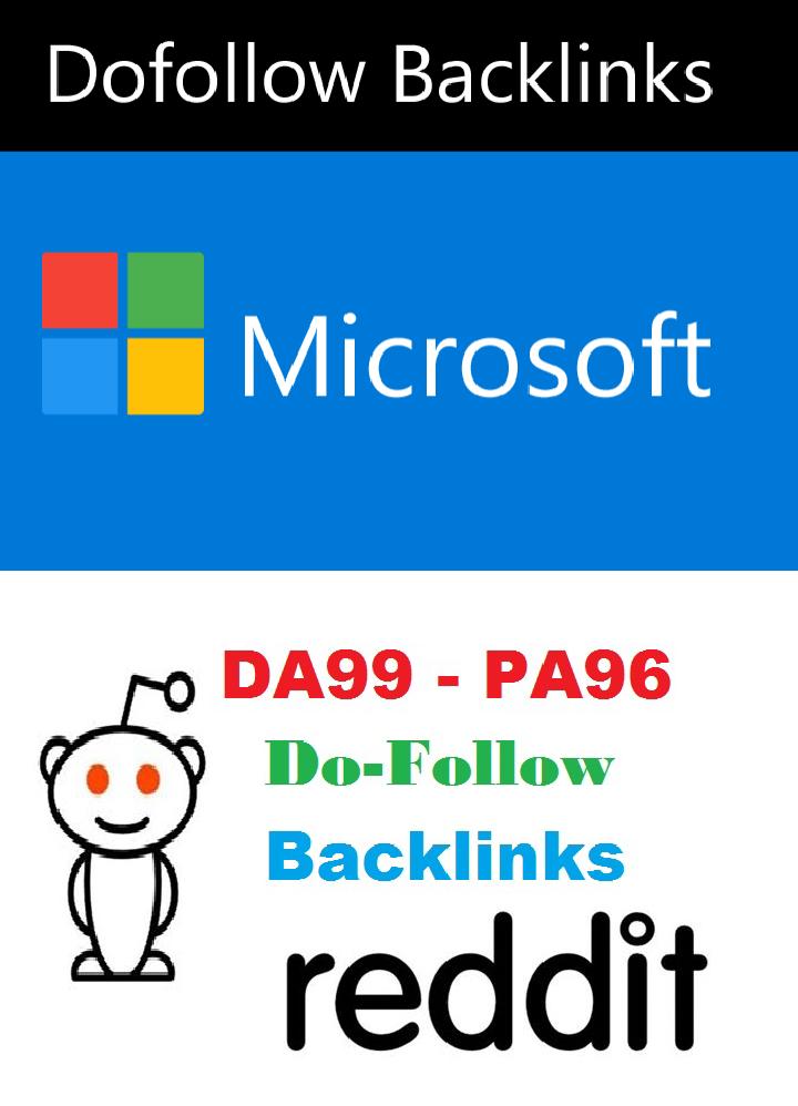 Get Microsoft and Reddit Do-follow backlinks