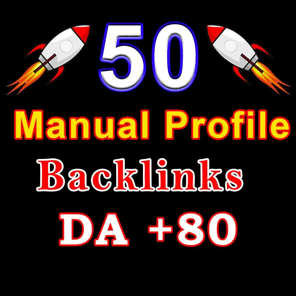 60 powerful profile backlinks with DA 80-99
