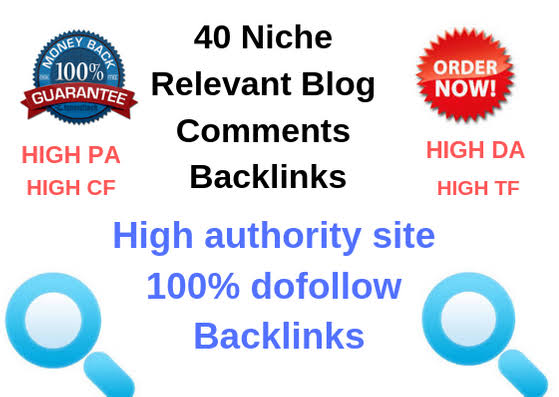 40 Niche Relevant Blog comments Backlinks
