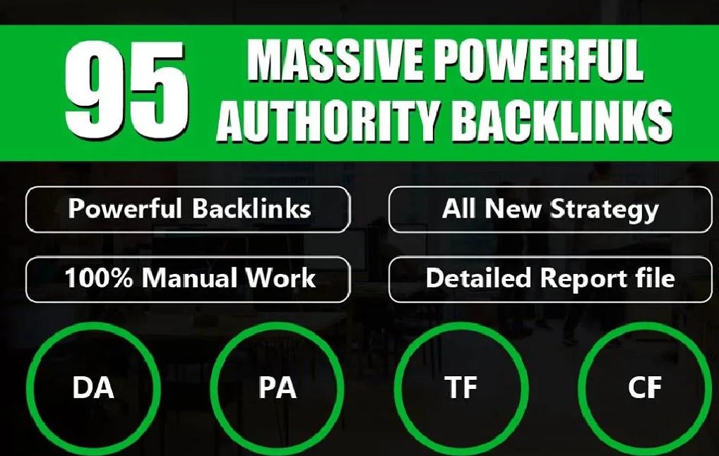 do manual 95 unique domain S E O back links on DA 100 sites back links