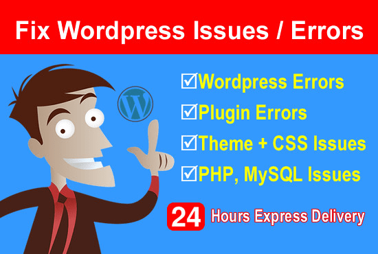 I will solve or fix wordpress issues,  errors and do customization.