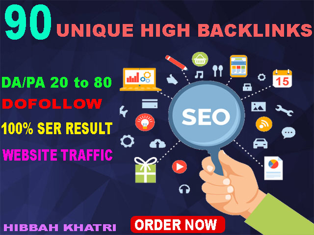 high rank in google with 90 unique domain high PR backlinks