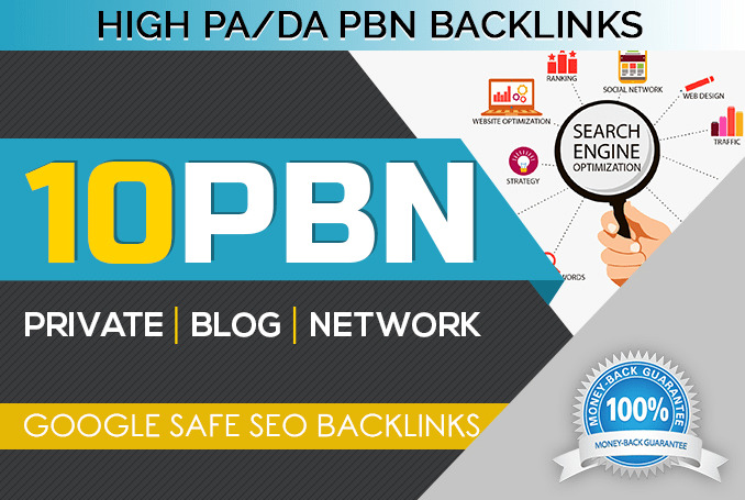10 high DA/PA homepage PBN dofollow backlinks