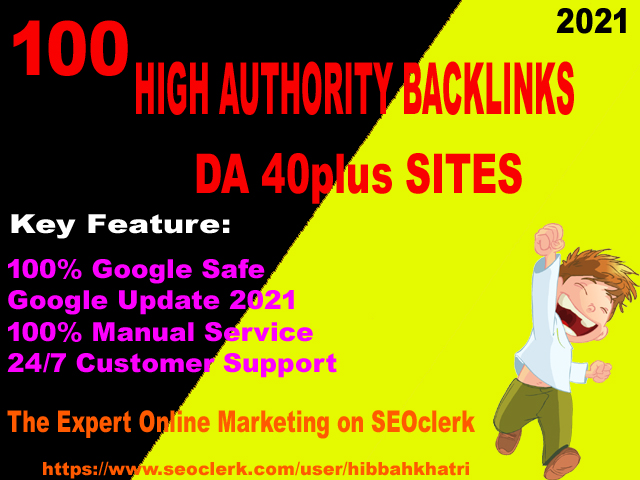 I will proivde 100 high authority DA40plus backlinks ranking your site