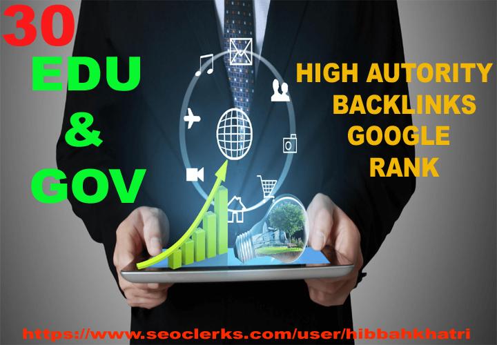 google rank high authority 30 EDU/GOV blogcomment backlinks
