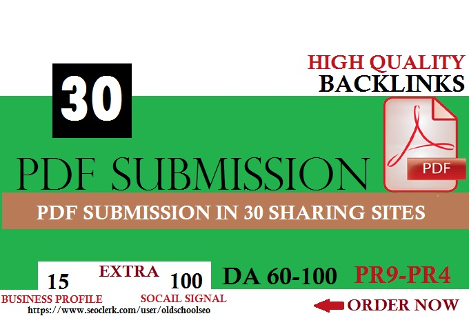 Manual PDF Creation & Submission Service! FOR GOOGLE RANKING