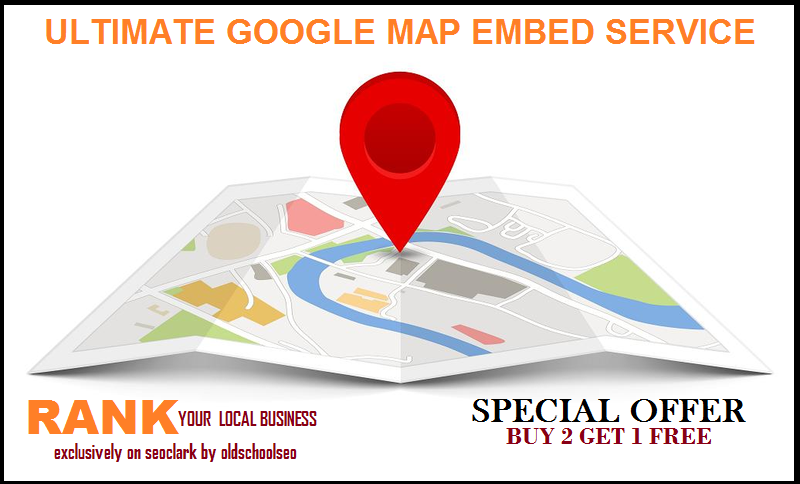ULTIMATE GOOGLE MAP EMDED into 100 web 2 blog,  RANK YOUR LOCAL BUSINESS
