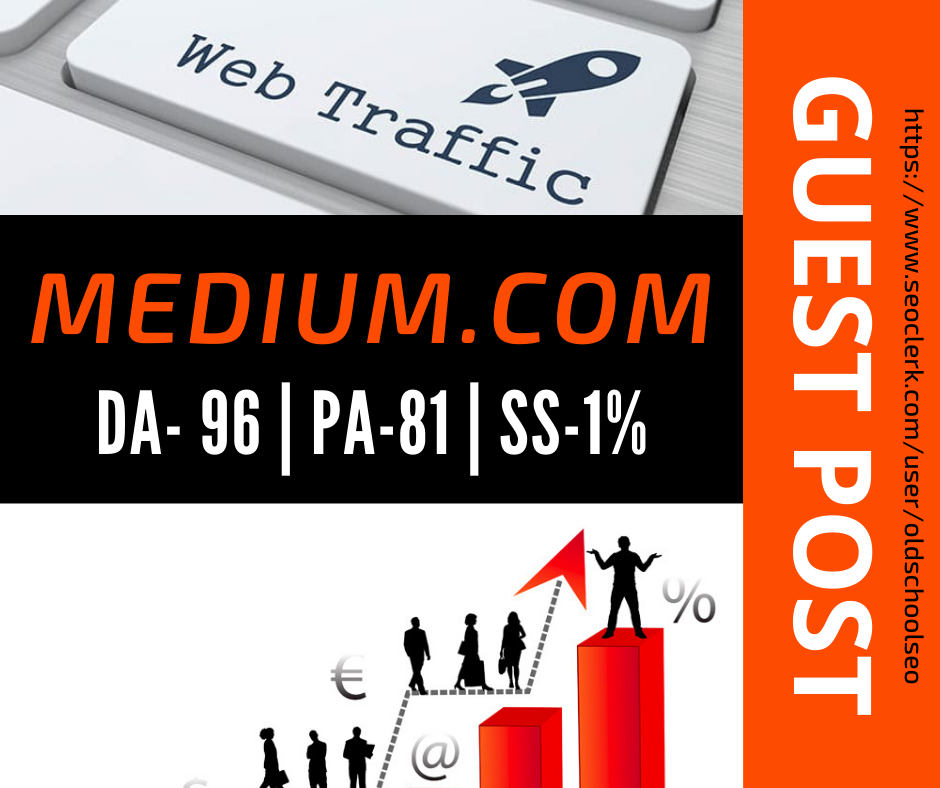 Publish a Guest Post on MEDIUM DA 96 Guranted Indexing and Permanent Backlinks