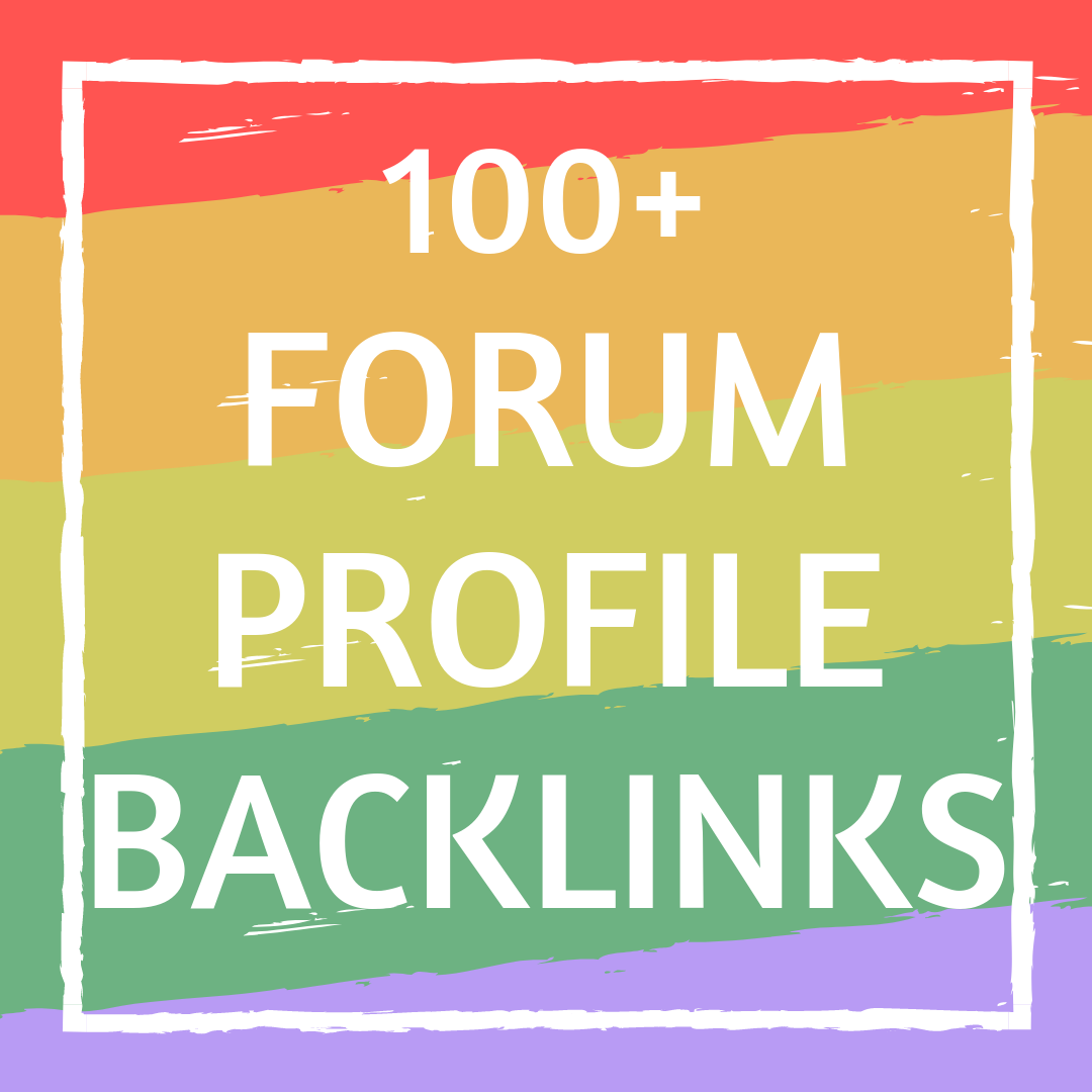 Buy 100+ Forum Profile Backlinks Creation Service from ProSEOlink