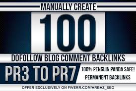 I Manually Create 100 Blog Comments SEO Backlinks On Unique Domains With DA PA