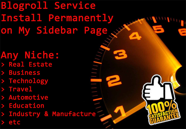 Blogroll service on 50xsites Top Level Domain only