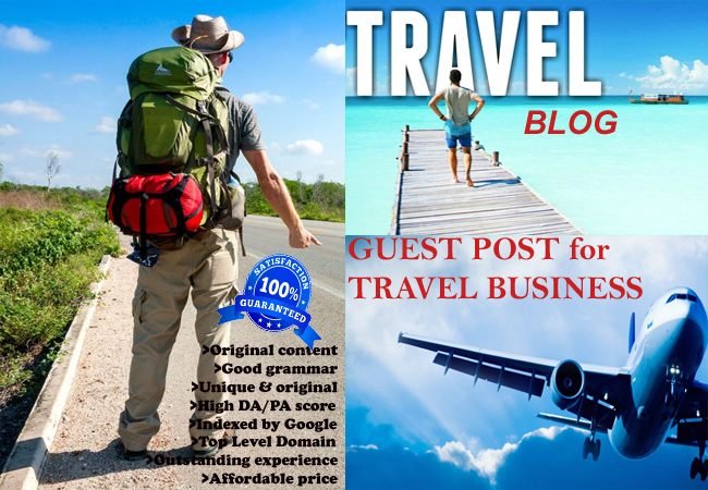 Guest Post Service for Your Travel Business 2xDA45+ PA30
