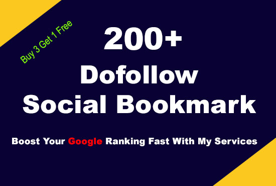 I Will Create manually 200 Dofollow Social Bookmarks From PR9 To PR1 Sites