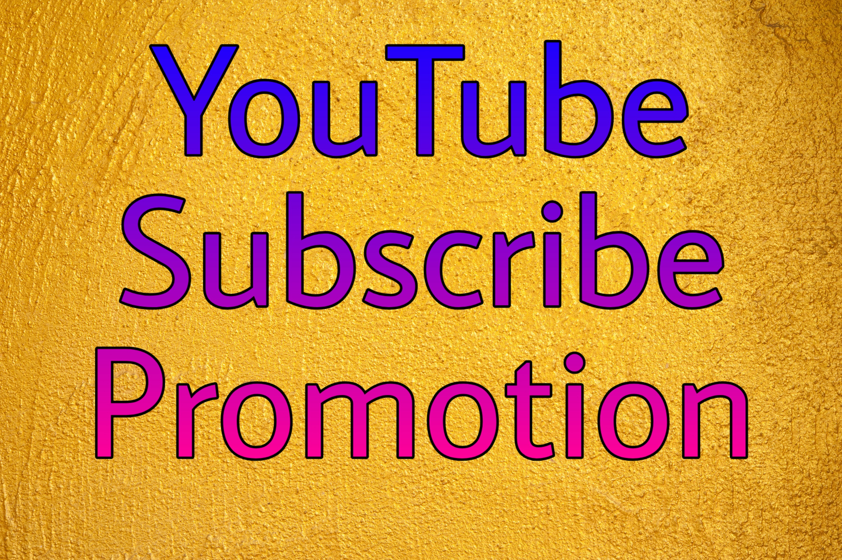 Real YouTube promotion by social media marketing