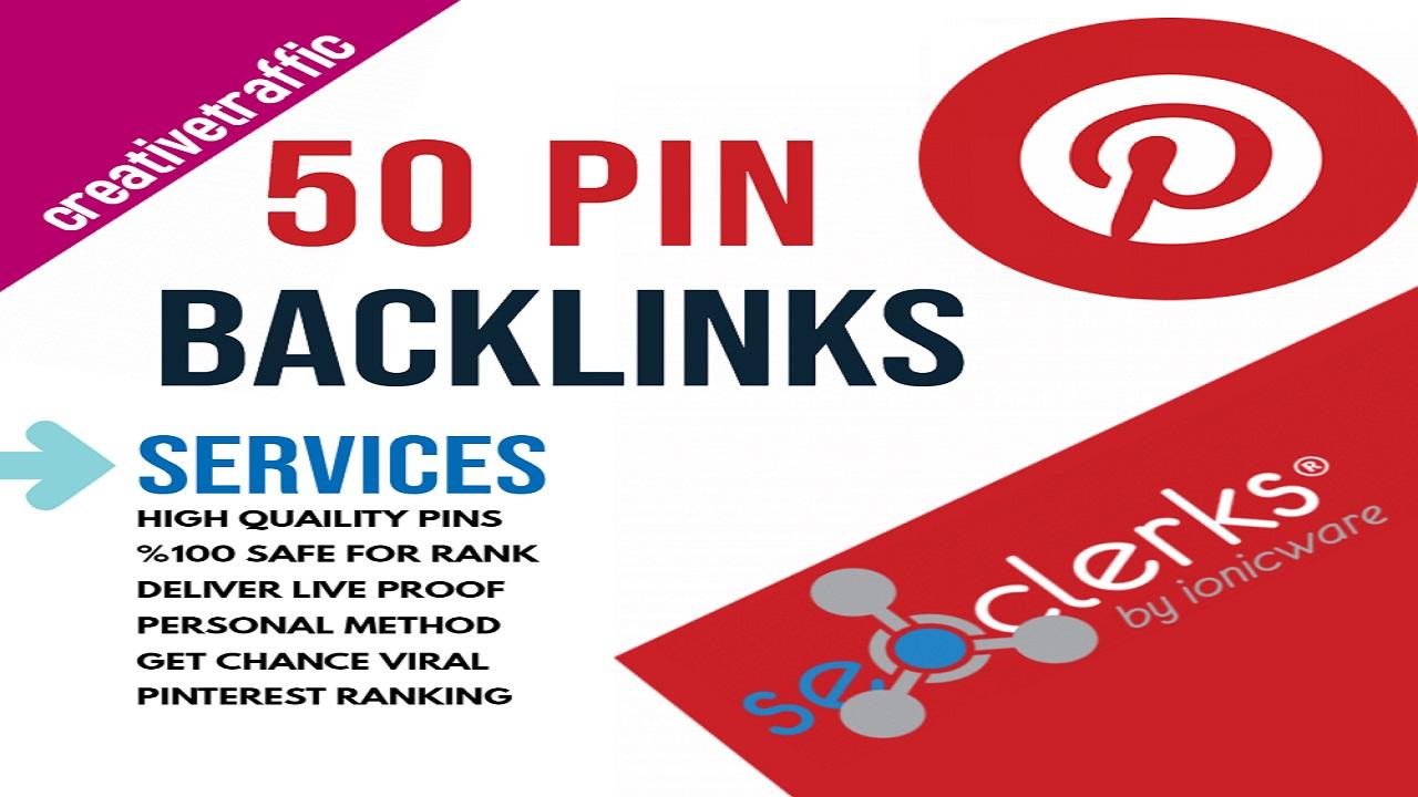 High-Quality 50 Pinterest Pin Backlinks 100 Facebook Social Signals