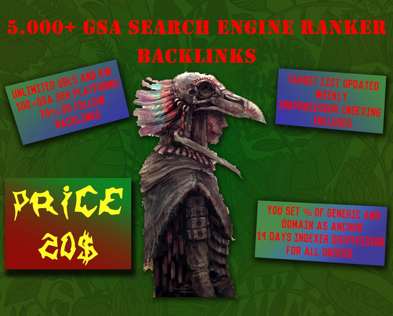 5.000+ GSA Search Engine Ranker Backlinks