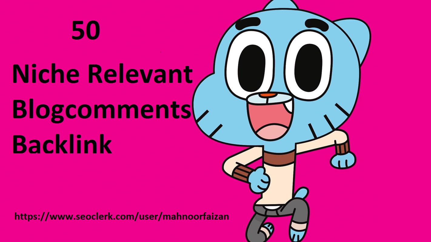 I will do 50 niche relevant backlinks manual blog comments