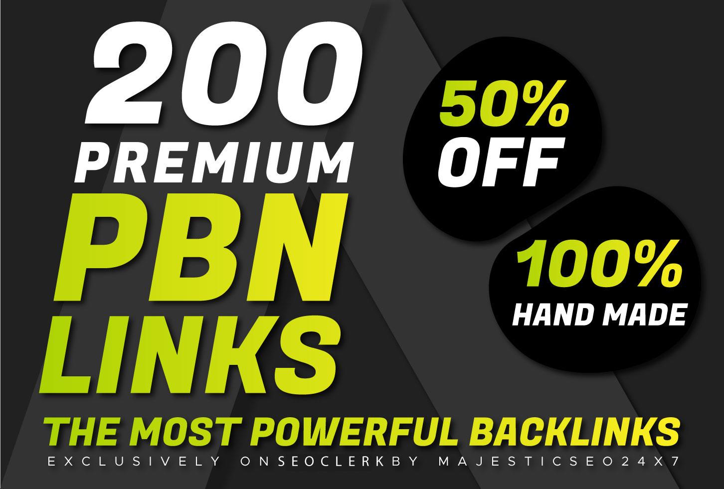 I will do 200 pbn high da pa dofollow unique homepage parmanent backlinks