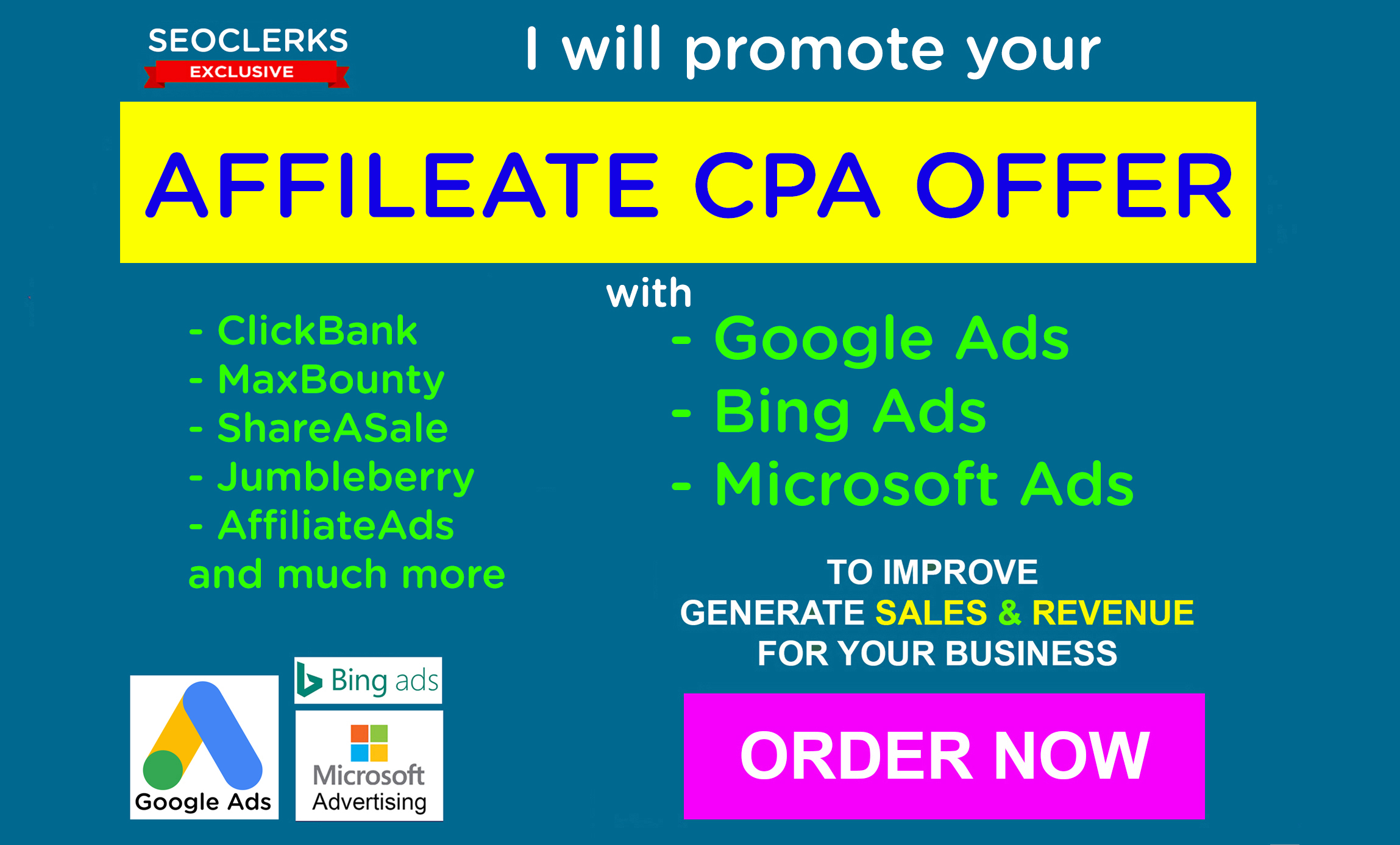 I will promote affiliate CPA offer with google ads or bing ads