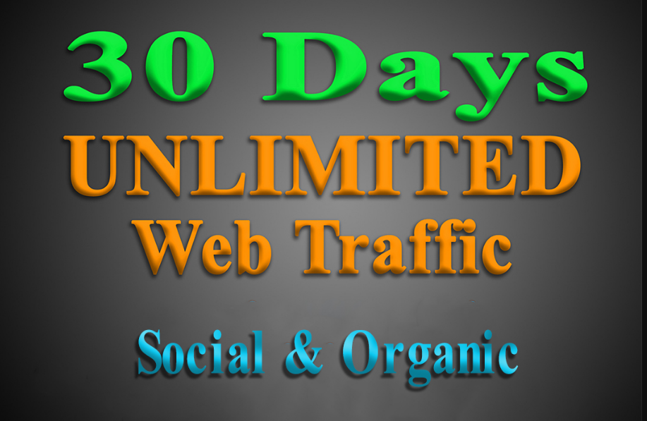 Provide Unlimited Social and organic Web Traffic to your website