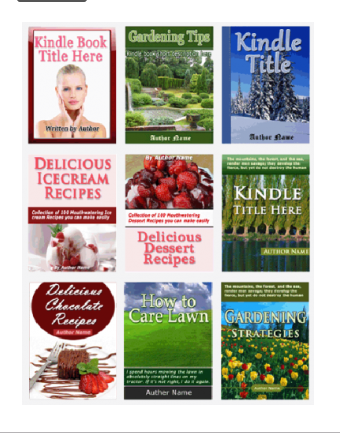 Get 25 Unique,  Easily Editable Flat Ebook Cover Templates for Amazon Kindle
