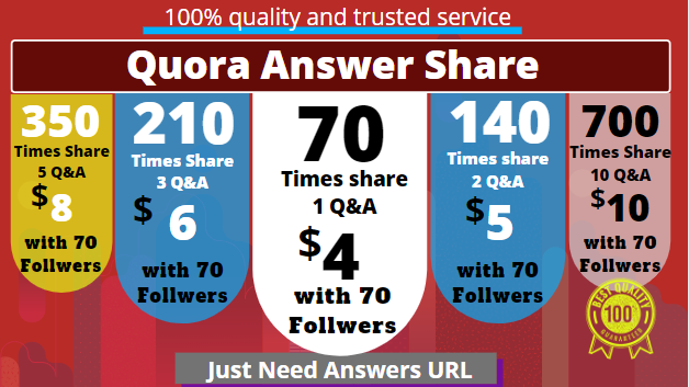 Share your quora answer 70 to 700 times and Free flowers