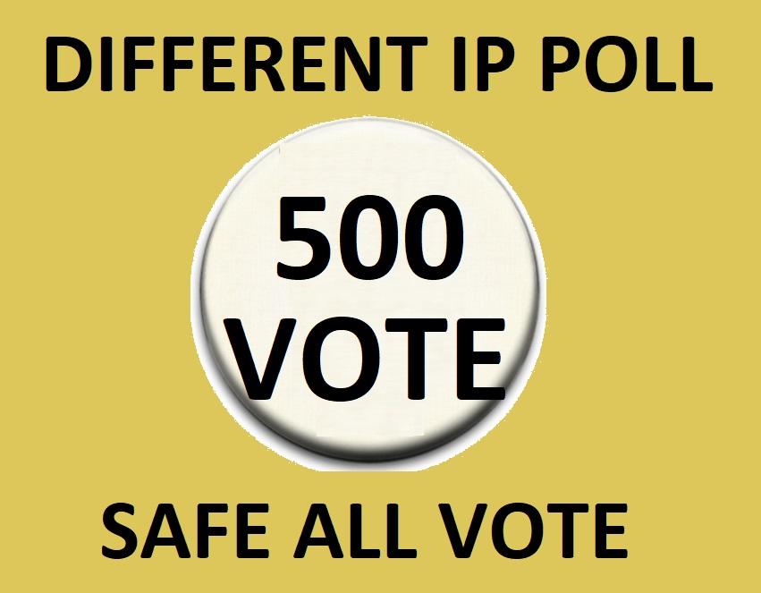 Happy buy 500 Different Ip Votes From Unique Ip Address