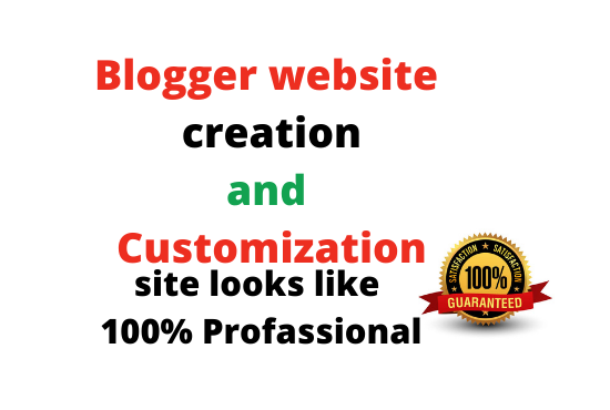I will create and customize a blogspot account