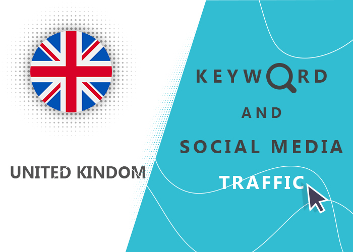 Send UK Organic Keyword And Social Media Traffic